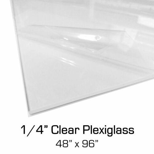 "1//4/"" x 48/"" x 96/"" Clear Plexiglass Acrylic Sheet for Sneeze Guards 4x8ft 6mm"
