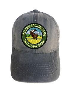 Rocky-Mountain-Park-Adjustable-Curved-Bill-Strap-Back-Dad-Hat-Baseball-Cap