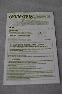 Shrek monopoly collectors edition board game instructions rules.