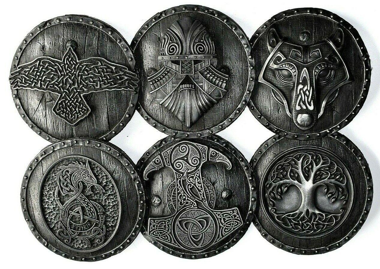 Árbol de la vida Raven Fenrir Wolfs Mjolnir Berserk Norse Escultura De Parojo Decoración Hogar