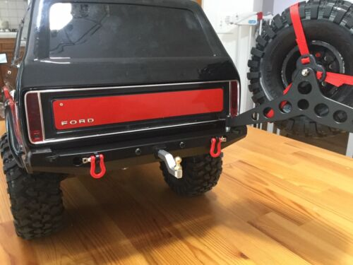 Spare Tire Mount LED for TRX-4 KYX Rear Metal Bumper w// Tow Hitch
