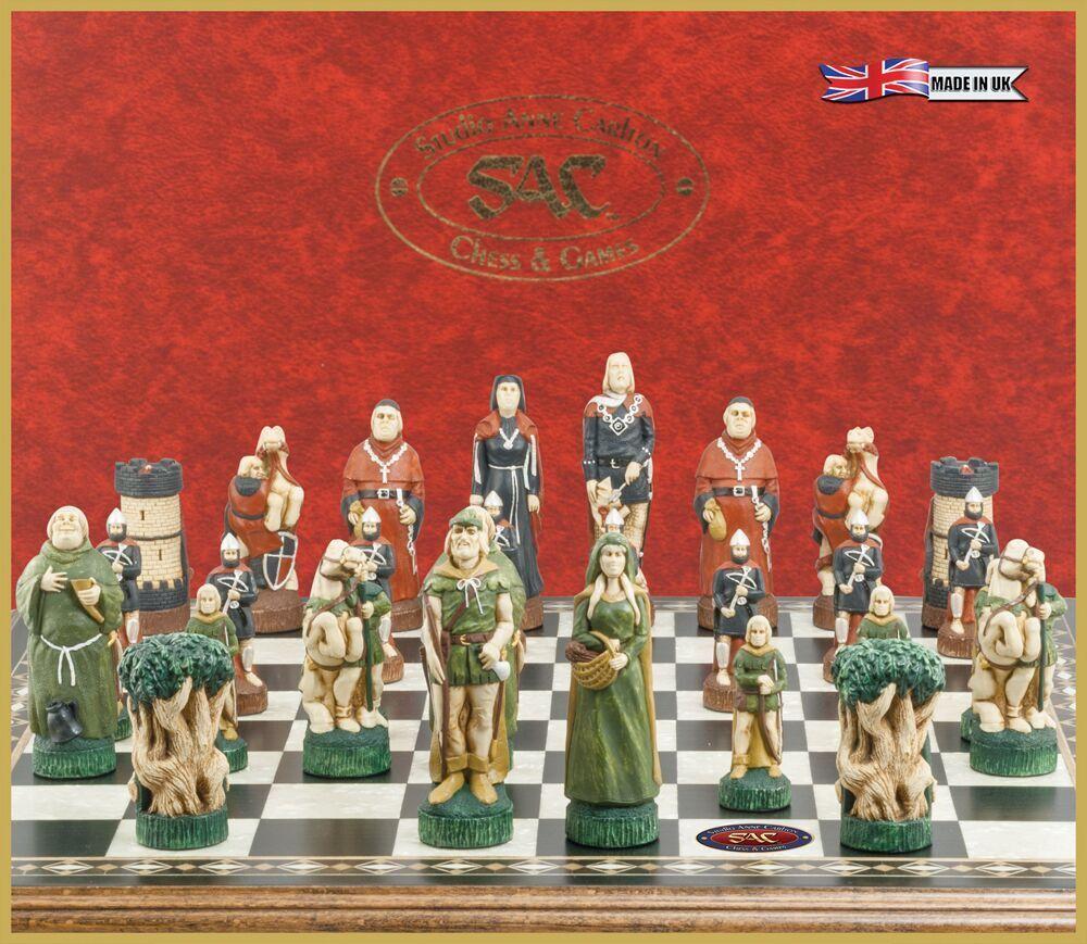 STUDIO ANNE CARLTON 16158 Robin Hood thème peint à à à la main Chess Set bf9533
