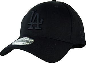 cfb050a6a2f LA Dodgers New Era 3930 League Essential All Black Stretch Fit ...