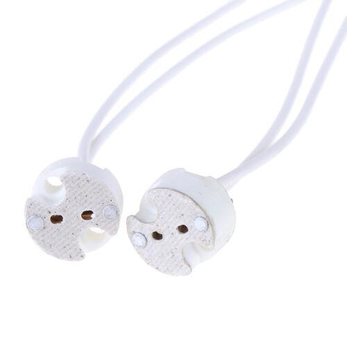 1//5//10pcs MR16 GU5.3 base socket wire connector led lamp ceramic hold OF