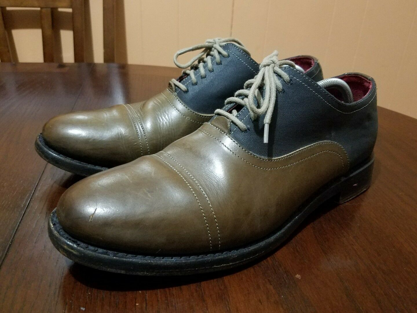 Cole Rood & Haan Co. Distress Pelle Casual Oxfords Size 10 M