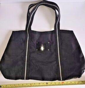 GIVENCHY Large Black Tote Beach Boat Bag Purse Shopper Handbag ... a87a836753e5f