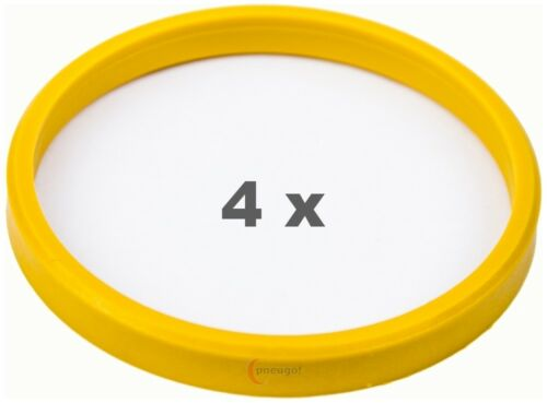 4 x anillas de centrado 72.0 a 65.1 amarillo claro//lightyellow