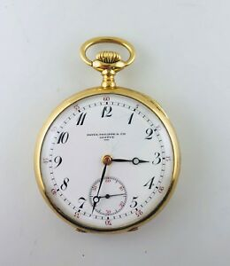 9cab48b3d0f 1915 Patek Philippe   Cie Engraved Pocket Watch in 18K YG -  40K ...