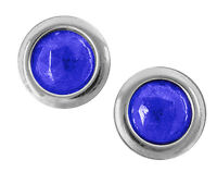 Glass Blue Dots With Stainless Steel Ring Do It Yourself Pair Ford Chevy Dodge A