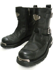 Men's Size 9.5 Harley Davidson Manifold 91692 Black Leather Motorcycle Boots