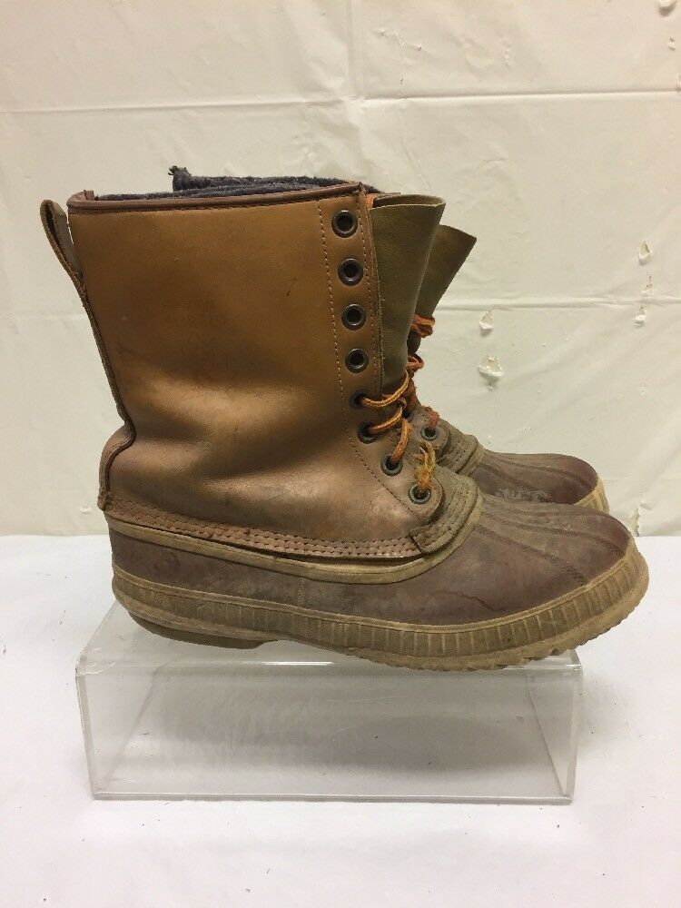 prima i clienti Vintage Sorel Sorel Sorel Uomo Marrone Leather & Rubber Winter Lined stivali Sz 10 M  molte concessioni
