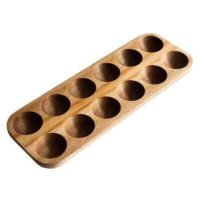 Egg Storage Box Wooden Double Row Home Organizer Rack Holder Kitchen Accessories