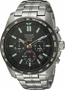Pulsar-Men-039-s-Japanese-Quartz-Watch-With-Stainless-Steel-Strap-Silver-PZ5-005