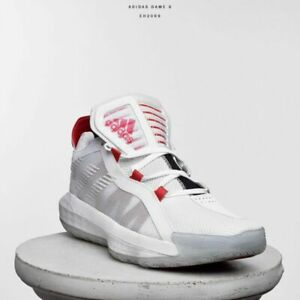 adidas-Dame-6-Dame-Time-Men-Basketball-Shoes-Sneakers-New-White-Red-Black-EH2069