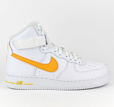 Nike Air Force 1 High 07 3 Men Lifestyle Fashion Shoes New White Gold AT4141 101 eBay  eBay