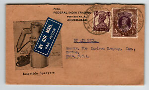 India-1940s-Inscetide-Sprayers-Cacheted-Cover-to-USA-Z13708