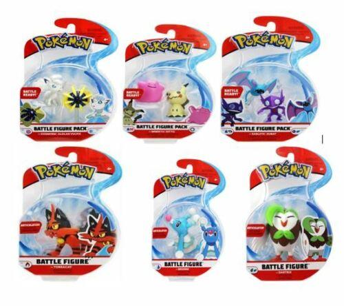Neuf Scellé choisissez votre favori 2 et 3 pouces Pokemon Battle Figure Packs