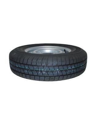 "13 Inch Trailer Wheel and Tyre 165R 13C 74N 4 STUD 5.5/"" PCD Silver"