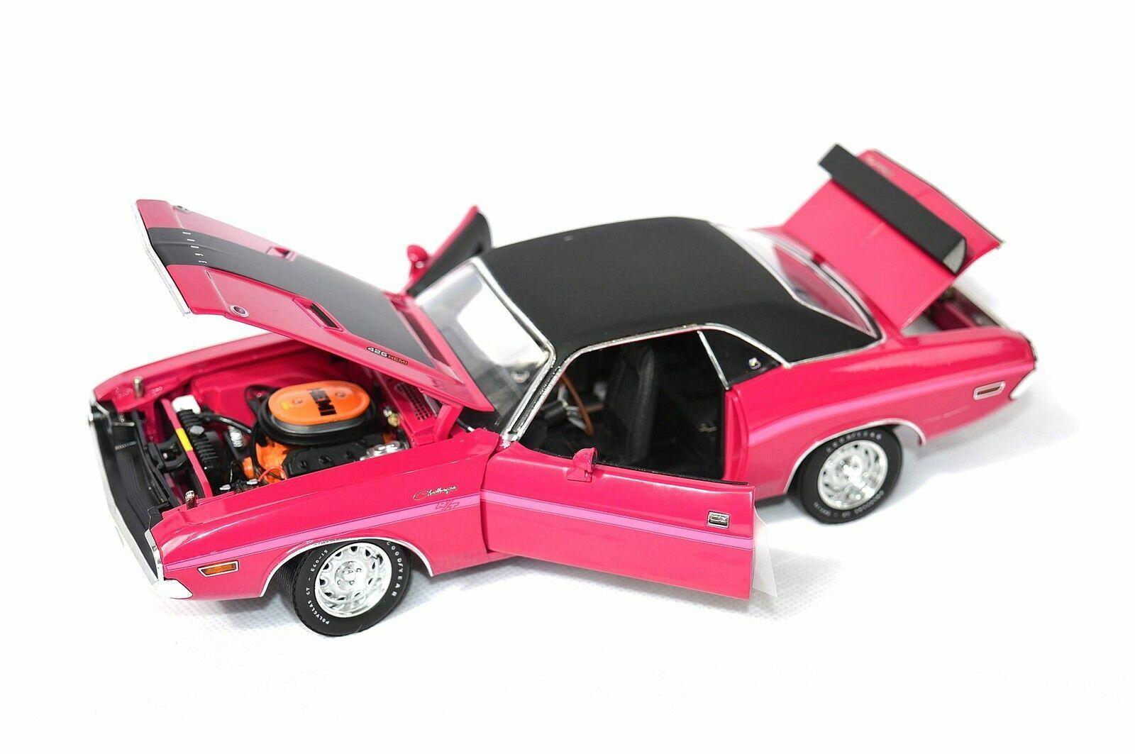 1970 Dodge Challenger R T Panther Rose échelle 1 24 par la route 61 50771