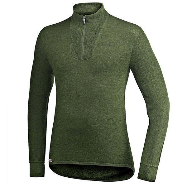 +++ Woolpower Rolli Merino Unterhemd Unterhemd Unterhemd 400 mit RV grün  pine Grün langarm neu +++ f12386