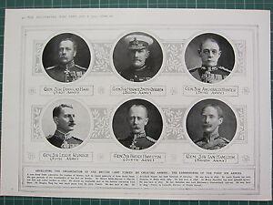 1915 Première Guerre Mondiale G.mondiale 1 Imprimé ~ Commandants De Armées Haig Ffjaqp1k-08010512-641276156