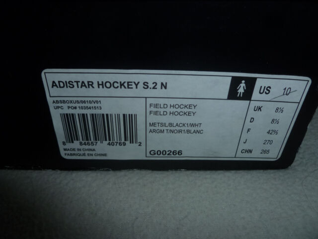 49c3601f0 adidas Adistar Hockey S.2 N Womans Field Hockey Shoes Silver Black ...