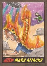 Mars Attacks Heritage - Nicole Falk Sketch Card