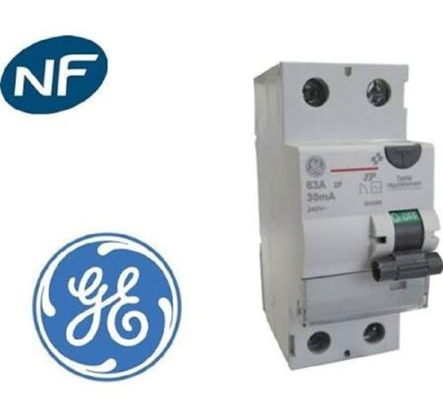 Interrupteur Différentiel type ac 2 poles 63A / 30mA general electric 604269