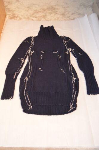 Ampm Navy Dress Sweater H Blue Large Wool Merino X Uk Womens Maison