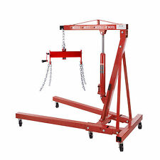 New 2 Ton Foldable Hydraulic Engine Hoist Shop Crane Jack Lift  & Load Leveler