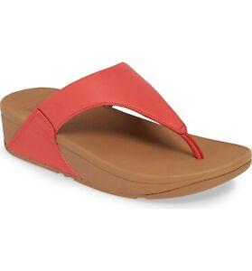 c33d7c0a6 Women s Shoes Fitflop LULU Leather Toe Thong Slide Sandals I88-695 ...