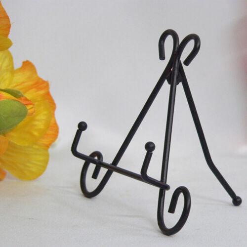Vertical Plate Rack Shelf Iron Art European Style Easel Plate Display Stand