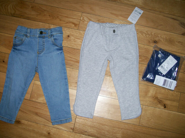 b16105af09cd2 NEW Carters Girls French Terry Jeggings/Leggings Gray, Navy & Jeans 12 M  Months