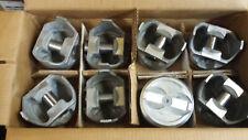 SBC 350 CID Pistons Flattop 4 valve reliefs 1436 std  NEW SET OF 8