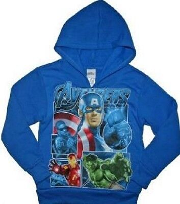 Marvel Avengers Hoodie Size 6-7 8 10-12 14-16 New Child Sweatshirt Hulk Ironman