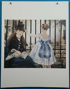 """Edouard Manet """"Gare Saint-Lazare"""" Lithograph French Impressionist Masterpieces"""