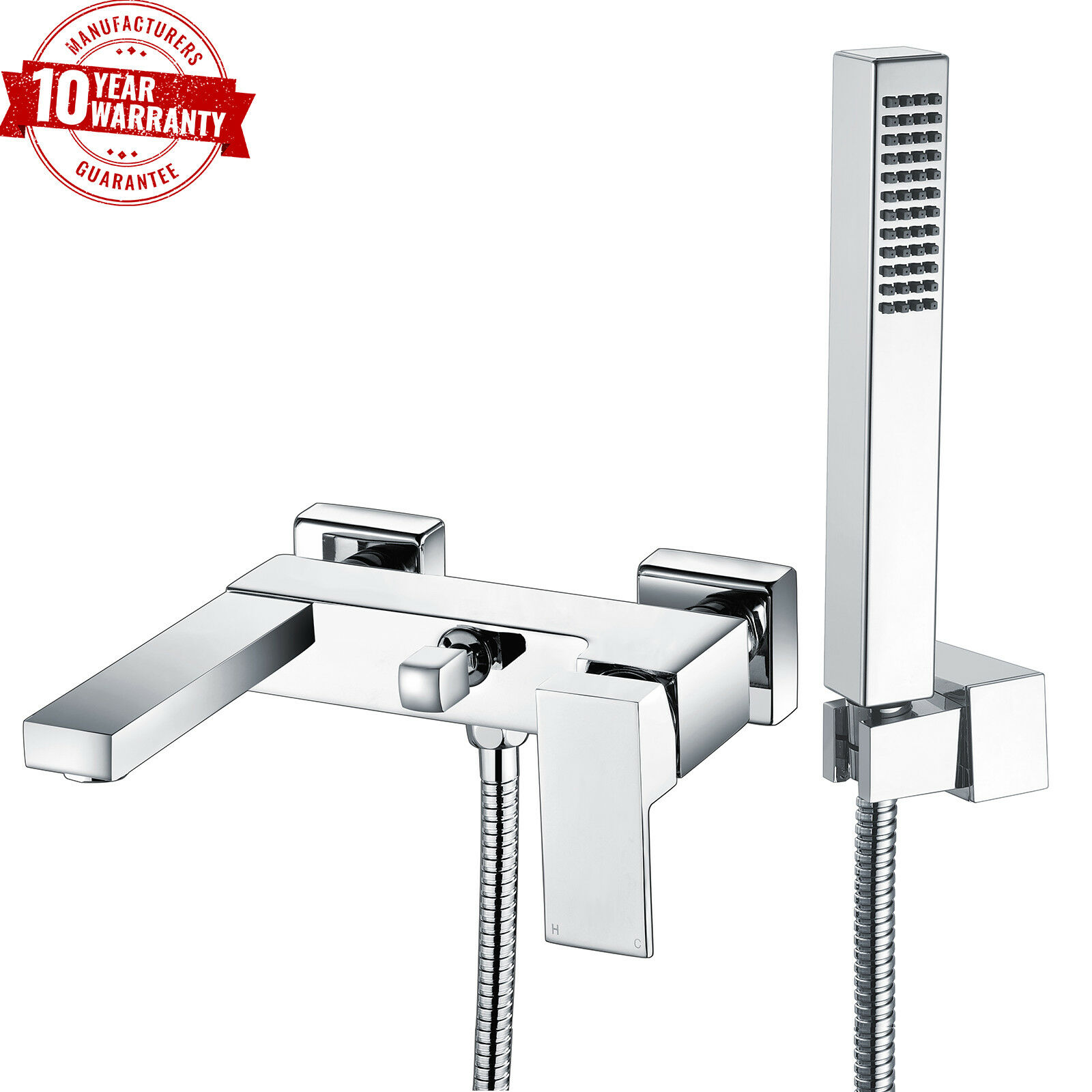 Wall Mounted Bathroom Chrome Bath Thermostatic Shower Faucet Tap ABS hand held