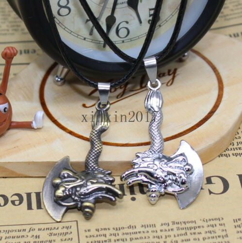 Delicate man special tap Big axe stainless steel charm necklace pendant gift