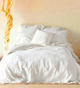 100 Linen Duvet Cover King 2 Pillowcases 20 Quot X40 Quot White