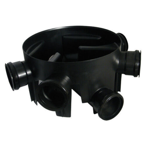 5 x 110MM FIXED INLET 450MM DIA.X 270MM DEEP UNDERGROUND DRAINAGE CHAMBER BASE