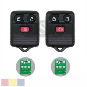 2 New Remote Keyless Key fit for Ford Mazda Mercury 3 Button Transmitter Replace 732130921015