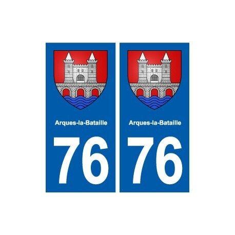 76 Blangy-sur-Bresle blason autocollant plaque stickers ville -  Angles : droits