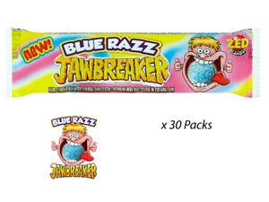 c69310132c ZED CANDY JAWBREAKER BLUE RAZZ 40.4g x 30 PACKS WHOLESALE RETRO ...