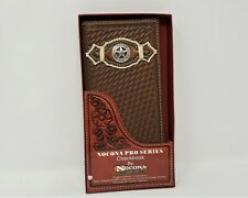 Ariat Western Mens Wallet Rodeo Leather Shield Dark Copper A35118283