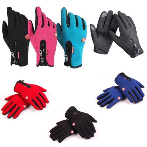 Men/'s Women/' Winter Ski Warm Gloves Motorcycle Touch Driving Gloves Waterproof