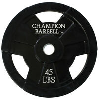 Champion Barbell 45lb. Olympic Rubber Coated Grip Plate on sale