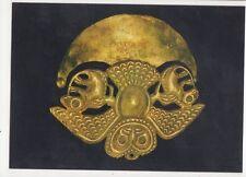Golden Ornament Cultura Moche Lima Peru Postcard 071a