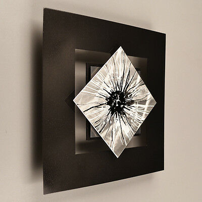 Metal Wall Sculpture Art Painting Silver Modern Abstract Home Decor Contemporary