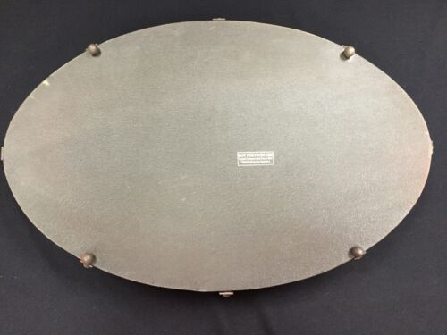 New w//o Tags Creative Co-Op Metal Oval Tray Red Distressed