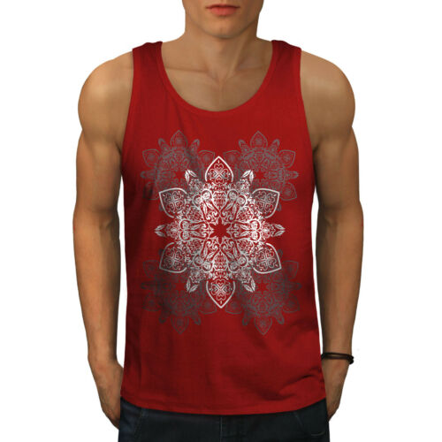 Wellcoda Indian Style Mens Tank Top Ornament Active Sports Shirt
